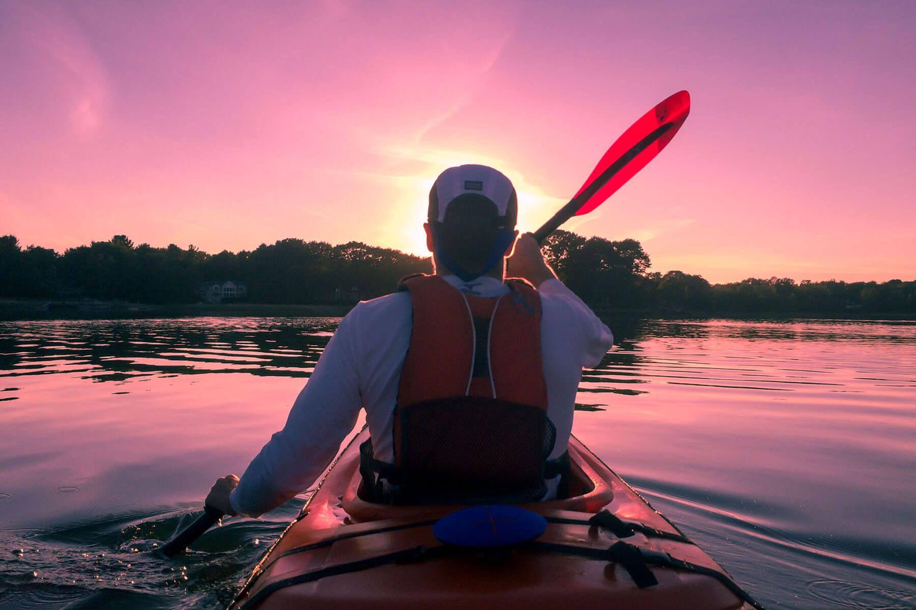 Photo of kayaker